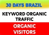 Keyword Targeted Organic Traffic for 3O days with Low Bounce Rate and 3+ minute visit duration guaranteed 