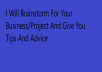 brainstorm for your business/project
