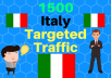 Provide 1,500 ITALY Web Traffic Visitors