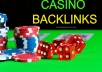 PROVIDE 5 TOP HOMEPAGE PBN CASINO BACKLINKS FROM BACKLINKS SITES