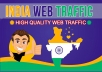 provide 1500 INDIA TARGETED Human traffic to your web or blog