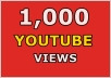 In this gig I'll provide you 1,000 Real YouTube views and 100 Likes for 5$. A Service To Improve The Popularity Of Your YouTube Videos and Increase Your Site/Blog Visitors....Videos with more Views often show up in Google search results. Also this helps you get found more often on YouTube Top Search Results.  Order now and get huge views on your video!!!