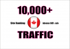 I WILL PROVIDE 10,000 Canada WEB TRAFFIC VISITORS