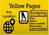 scrape yellow pages for business list for any country