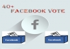 give you 40+ real Facebook votes,contest votes and website