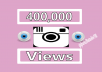 Give You FAST 400,000+ Instagram Videos Views