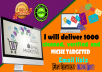 Deliver 1000 Cleaned, Verified And Niche Targeted Email List