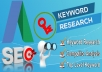 do professional SEO Keyword research and Competitor analysis