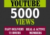 I will add 5000 youtube views I will promote and get your video safe youtube views, likes, Comments within 48hrs.  Here You Will Get 100% Organic And Non-Drop result    My service -     100% real and unique views 5000  views High retention Super fast delivery Get exposed, go viral on youtube Worldwide Split available