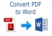 convert PDF to Word And Excel file