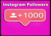 give you 1,000 Instagram real followers Organically