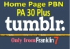 DO 10 permanent expired Tumblr PBN Backlinks guaranteed PA 30 plus