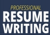 Write Your Professional Resume