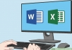 do any type of data entry tasks on Ms Word and Ms Excel, retype scanned documents