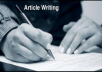 do article writing, blog writing