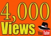 I will add 4000 youtube views I will promote and get your video safe youtube views, likes, Comments within 48hrs.  Here You Will Get 100% Organic And Non-Drop result    My service -     100% real and unique views 4000  views High retention Super fast delivery Get exposed, go viral on youtube Worldwide Split available