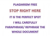 rewrite, paraphrase or reword any document up to 300 words