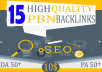 give 15 high trustflow homepage web2 pbn backlinks