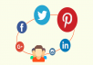 do MANUALLY 50 Social Backlinks PR10 to PR4