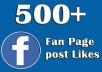 add Real and active 100+ UK Facebook Fanpage like