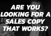 write the one sales letter you must use to earn 1000 dollars