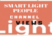Give You Real Guarantee 100+ 'Smart Light People' Views