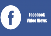 Give 25,000+ Facebook Video Views or 250 Fan Page Likes, Real & Active users, Non drop Guaranteed