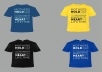 do typography t shirt design in 24 hours