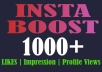 Boost your insta picture/video to 500+ real human