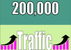 provide Real 200,000 Website Traffic Worldwide