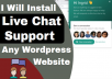 setup the best live chat support into any wordpress website