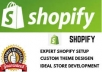 create an ecommerce store for you on  shopify