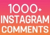 Provide Fast 1000+ Instagram random comments