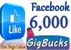 add 6000 permanent Facebook likes plus 6k followers