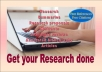 help in research summaries and dissertations