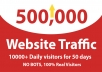 drive 500,000 organic website traffic real