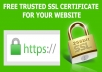 I will install free SSL certificate on cPanel or Plesk for your brand new website 