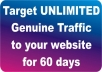 drive real targeted USA web traffic to any link for 60 days