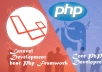 Develop website in Laravel and Php