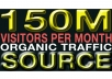 give you source for 150 Million Organic Website Visitors