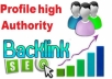 Provide 1,800 Plus High Quality Profile Backlinks