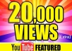 give you 20,000 Organic Views