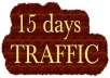 For 15 days ,we will deliver  high quality traffic to your website ,mostly  from  USA  and Europa   . 