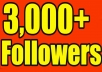 GIVE YOU 3,000+ HIGH QUALITY TWITTER FOLLOWERS