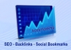 BOOKMARK your site to 500+ PR8 to PR0 Social Bookmarking sites (Up to 5 URLs) + Ping