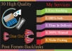 do HQ 30 forum posting backlink for easy ranking your site