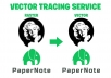 manually vector trace, vectorise logo,image,drawing professionally