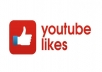 I will add Real 300 Youtube Like.     These Likes come from different and real YouTube Users.  100% real and safe!  It helps to your Video channel ranking upon YouTube.