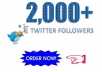 I will give you 2000+ Twitter Followers   I will share your twitter profile to different social media platform and social bookmarking site and blog site.  And Manually Increase your Twitter Profile Followers    Quality of my services:  1. Non Drop Twitter Followers  2. Real and Active Twitter Followe