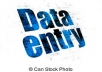 do data entry, data researcher and data analysis